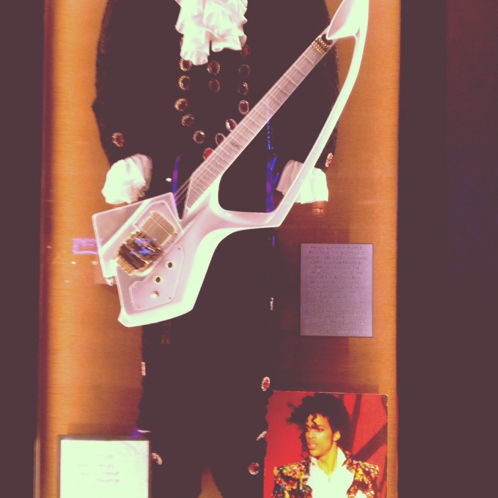 Pre-gaming with Prince memorabilia at Hard Rock